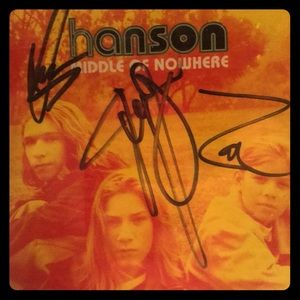 Autographed copy of Hanson's MIDDLE OF NOWHERE